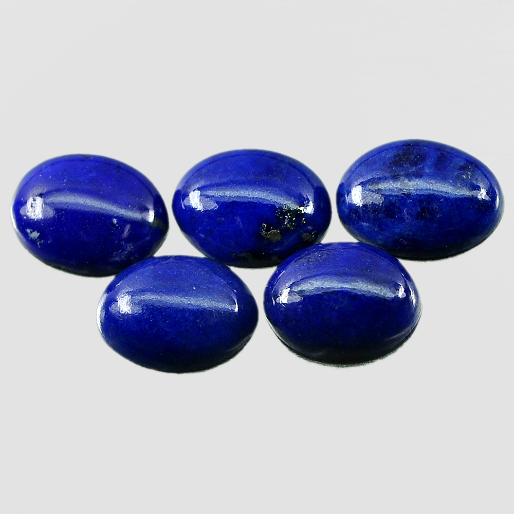 3.41 Ct. 5 Pcs. Alluring Natural Gems Royal Blue Lapis Lazuli Oval Cabochon