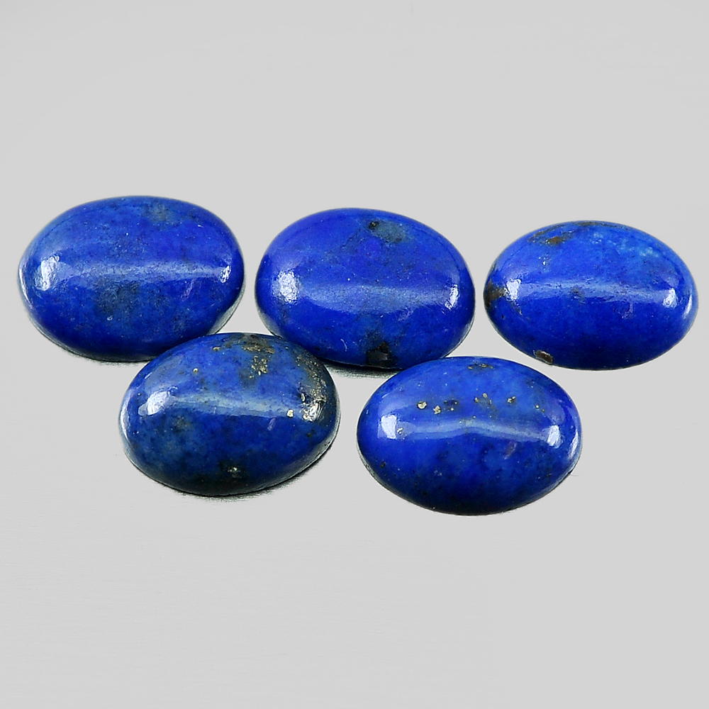 3.39 Ct. 5 Pcs. Nice Oval Cabochon Natural Gems Royal Blue Lapis Lazuli