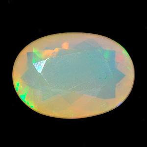 0.45 Ct. Oval Clean Natural Multi Color Opal Sudan Gem