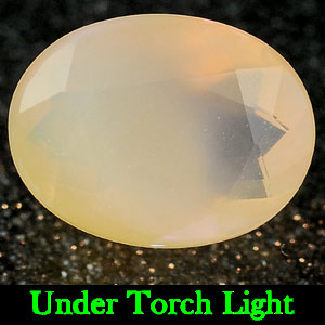 0.42 Ct. Oval Natural White Color Opal Sudan Unheated