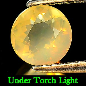 0.87 Ct. Round Natural Multi Color Opal Unheated Gem