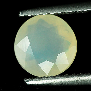 0.88 Ct. 7.1Mm. Round Natural White Opal Sudan Unheated