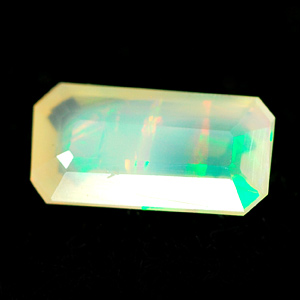 Unheated 0.70 Ct. Natural Multi Color Opal Octagon Ethiopia