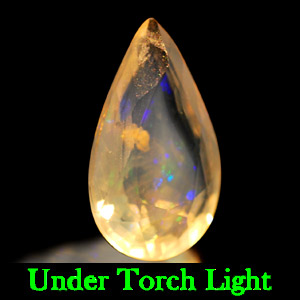0.61 Ct. Pear Natural Multi Color Opal Sudan Unheated