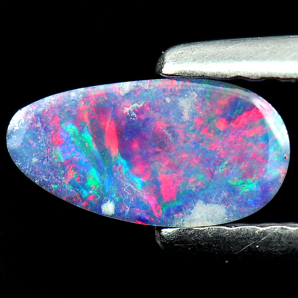 0.29 Ct. Natural Gem Multi Color Doublet Opal Unheated