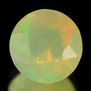 0.70 Ct. Round Natural Gem Muti Color Opal Unheated