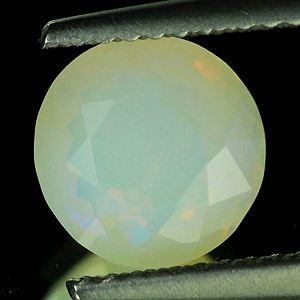 0.99 Ct. Round Natural Gem Muti Color Opal Unheated