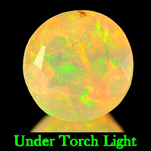 0.56 Ct. Round Natural Gem Multi Color Opal Unheated