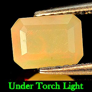 0.55 Ct. Octagon Natural Gem Multi Color Opal Unheated