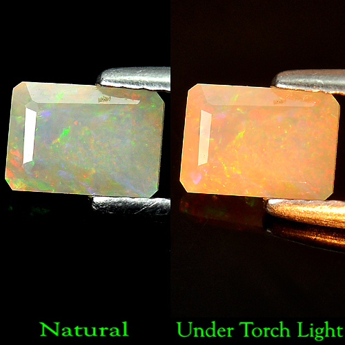 Unheated 0.62 Ct. Octagon Natural Multi Color Opal Gem
