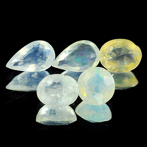 1.74 Ct. 5 Pcs. Natural Multi Color Opal Unheated Gems