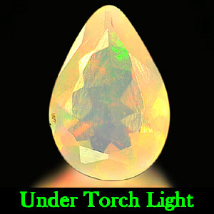 0.63 Ct. Pear Natural Multi-Color Play Of Colour Opal Unheated