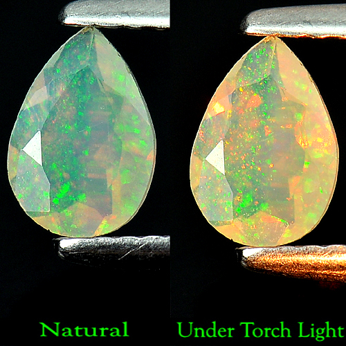 0.36 Ct.Top Luster Pear Natural Multi Color Opal Gems