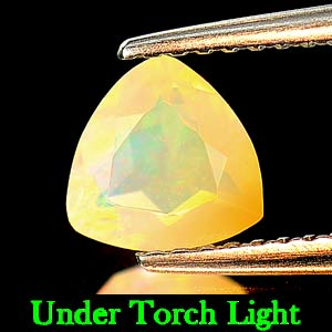 0.61 Ct. Trilliant Shape Natural Opal Multi Color Trilliant Shape Unheated