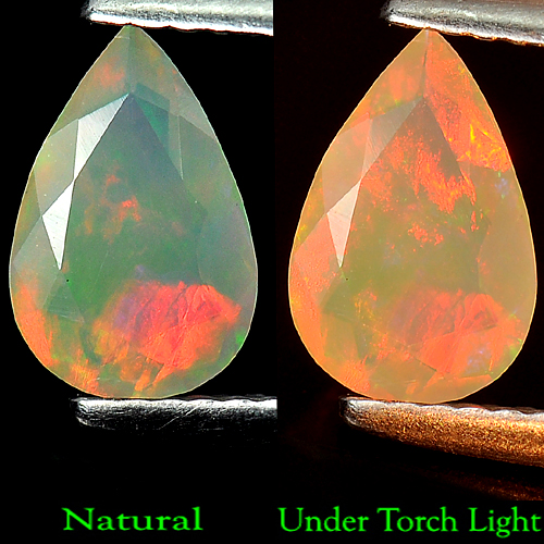 0.53 Ct. Stunning Natural Opal Multi Color Pear Shape Unheated