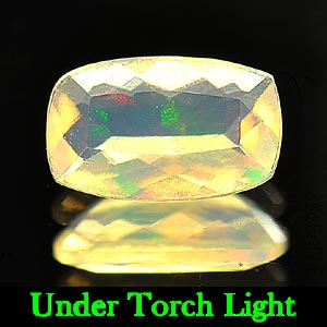 0.55 Ct. Beautiful Natural Opal Multi Color Cushion Shape Unheated