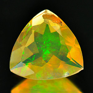 0.70 Ct. Natural Opal Multi Color Trilliant Shape Unheated