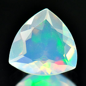 0.56 Ct. Exquisite Natural Opal Multi Color Trilliant Shape Unheated