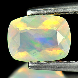Cushion Shape 0.49 Ct. Natural Opal Multi Color Unheated