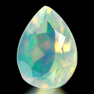 0.52 Ct. Charming Natural Opal Multi Color Pear Shape Unheated