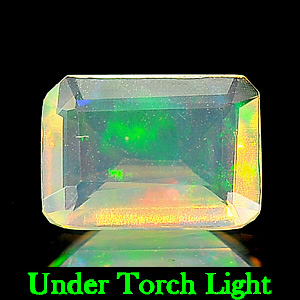 Octagon Shape 0.47 Natural Opal Multi Color Unheated