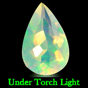 0.49 Ct. Natural Opal Multi Color Pear Shape Unheated