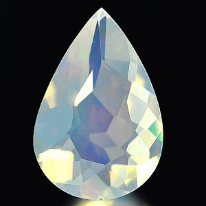 0.57 Ct. Wonderful Natural Opal Multi Color Pear Shape Unheated