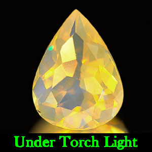 0.62 Ct. Stunning Natural Opal Multi Color Pear Shape Unheated
