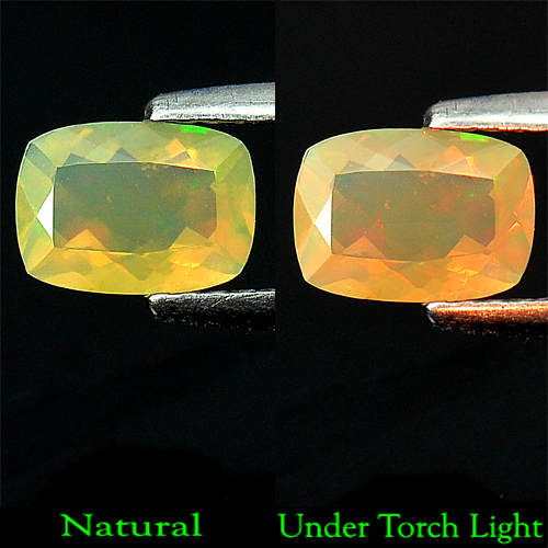 0.52 Ct. Wonderful Natural Opal Multi Color Cushion Shape Unheated
