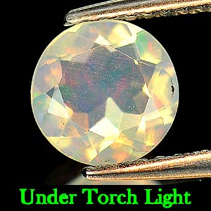 0.71 Ct. Natural Opal Multi Color Round Shape Unheated