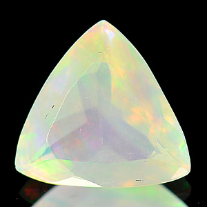0.77 Ct. Trilliant Shape Natural Multi-Color Play Of Colour Opal
