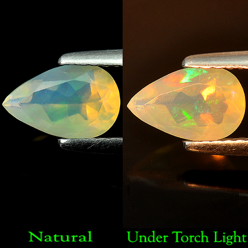 0.64 Ct. Pear Shape Natural Multi-Color Play Of Colour Opal