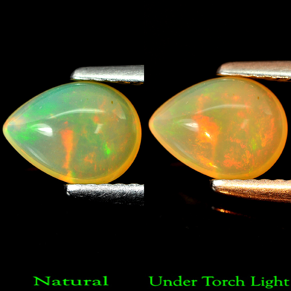 0.77 Ct. Natural Multi-Color Play Of Colour Opal Pear Cabochon