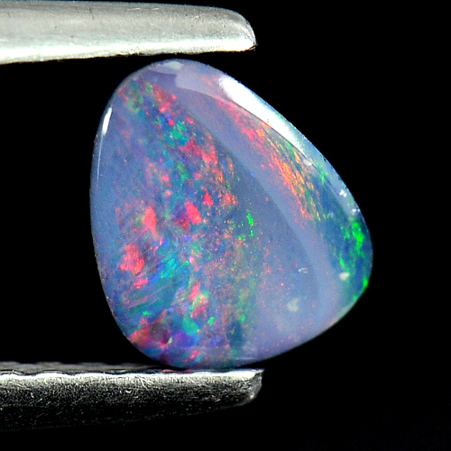 0.42 Ct. Natural Multi Color Doublet Opal Gemstone From Australia