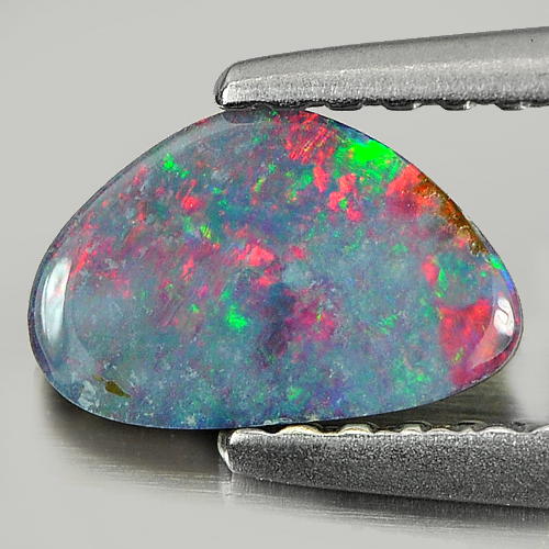 0.40 Ct. Natural Gemstone Multi Color Doublet Opal From Australia