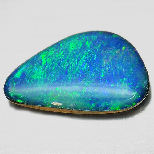 0.65 Ct. Beautiful Natural Multi Color Doublet Opal Gemstone