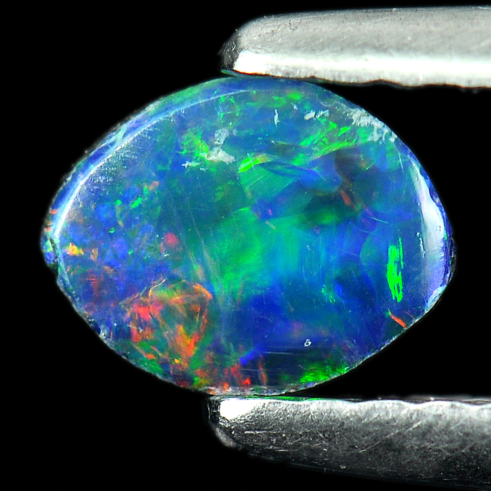 0.41 Ct. Colorful Natural Multi Color Doublet Opal Gemstone