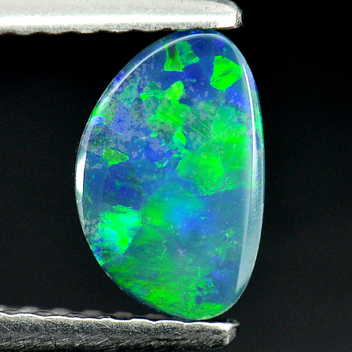 0.62 Ct. Attractive Natural Gemstone Multi Color Doublet Opal From Australia