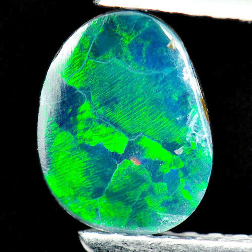 0.66 Ct. Matey Natural Gemstone Multi Color Doublet Opal From Australia