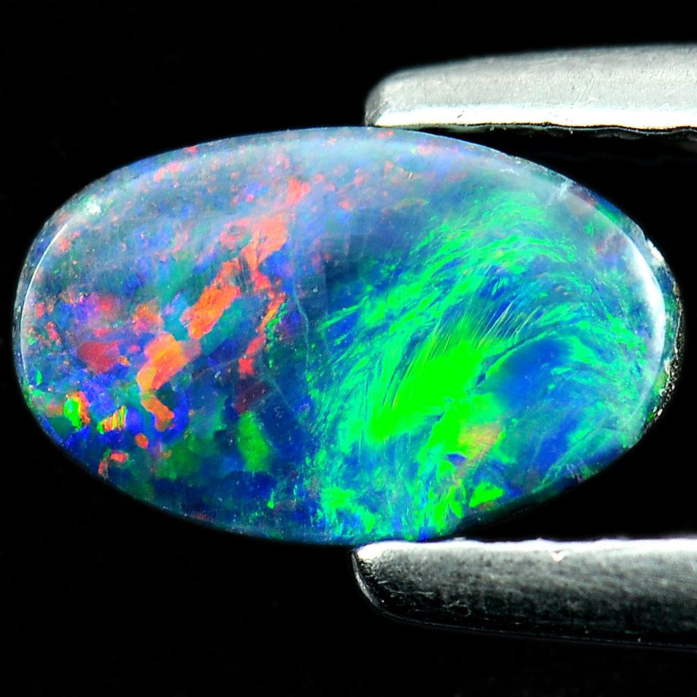 0.72 Ct. Attractive Natural Gemstone Multi Color Doublet Opal From Australia