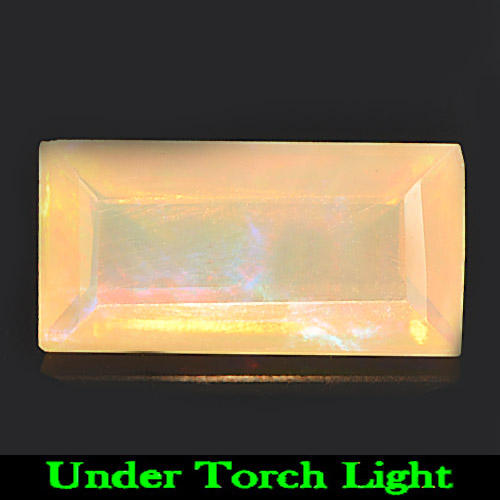 Unheated 1.46 Ct. Baguette Natural Gem Multi Color Play Of Colour Opal