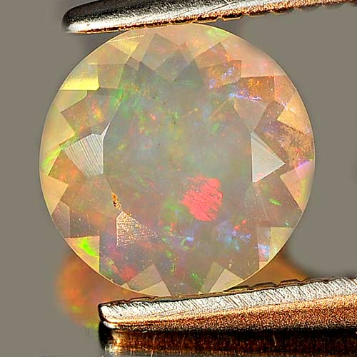 0.48 Ct. Round Natural Gem Multi Color Play Of Colour Opal Unheated