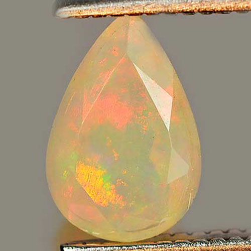 0.44 Ct. Nice Natural Gem Multi Color Play Of Colour Opal Pear Shape