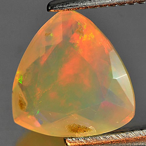 0.85 Ct. Trilliant Natural Gem Multi Color Play Of Colour Opal Sz 8 x 8 Mm.