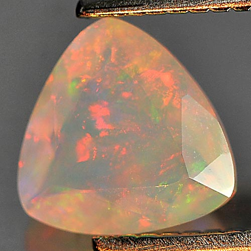 Natural Gemstone 0.47 Ct. Trilliant Shape Multi Color Play Of Colour Opal