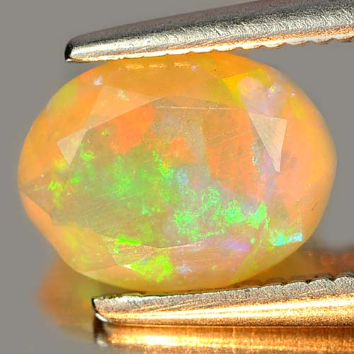 0.58 Ct. Charming Gem Oval Shape Natural Multi Color Play Of Colour Opal