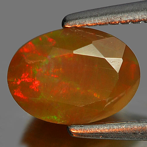 0.54 Ct. Beautiful Gem Natural Multi Color Play Of Colour Opal Oval Shape