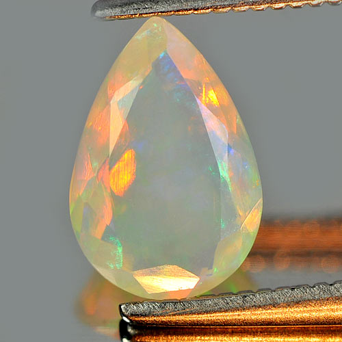 0.65 Ct. Attractive Pear Natural Gem Multi Color Play Of Colour Opal