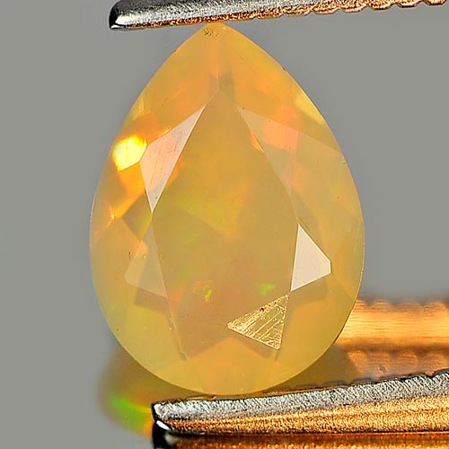 0.66 Ct. Good Cutting Pear Natural Gem Multi Color Play Of Colour Opal