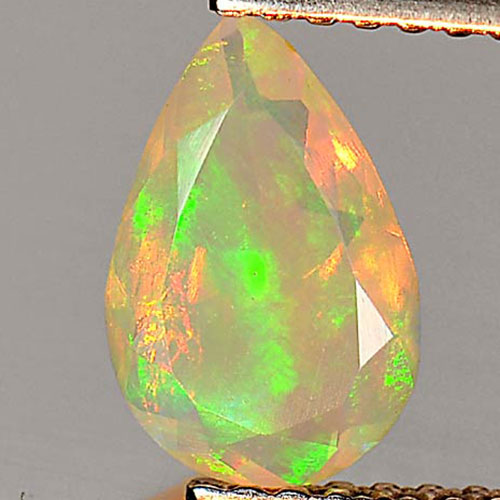 0.53 Ct. Pear Shape Natural Multi Color Play Of Colour Opal Gem